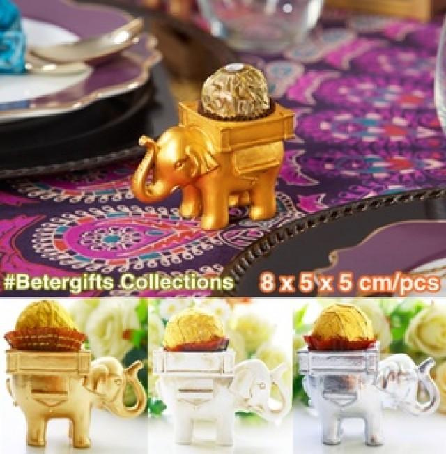 wedding photo - Beter Gifts®抖音同款INS喜糖盒創意婚禮小物印度幸運大象燭臺回禮伴手禮BETER-SZ040