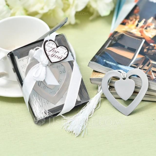 "wedding photo - ""Love Story""/Heart Shaped Heart Shaped Stainless Steel Bookmarks (Sold in a single piece)"