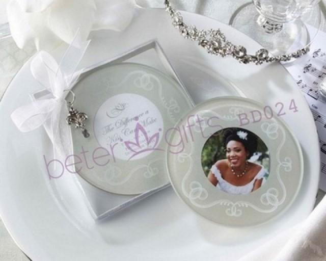 wedding photo - BeterWedding Bridesmaids Handcrafts White Photo Frame Coasters BD024