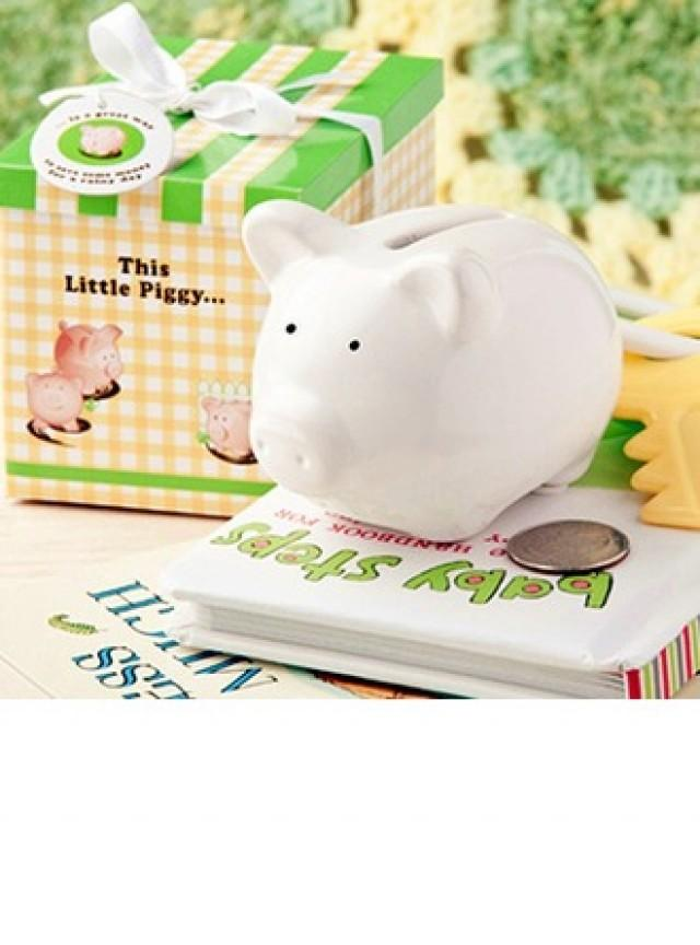 wedding photo - Ceramic Mini-Piggy Bank (Sold in a single piece) - BeterWedding