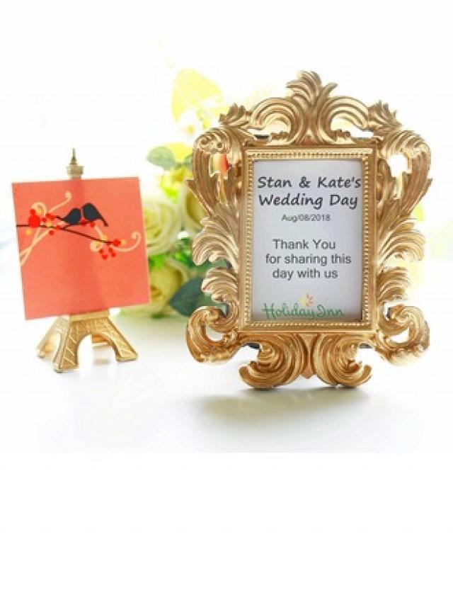 wedding photo - DIY BeterWedding Gold Baroque Photo Frame Wedding Decoration(Sold in a single)