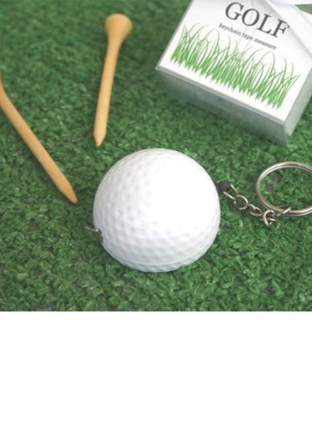 wedding photo - Golf Ball Tape Measure Keychain Party Favor (Sold in a single) - BeterWedding