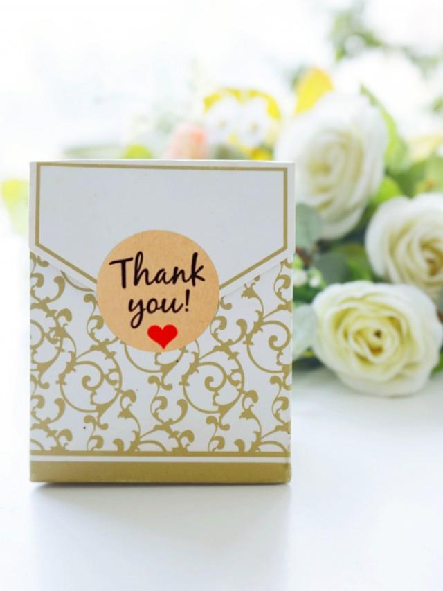 wedding photo - BeterWedding 12pcs/set Golden Damask Wedding Favor Boxes