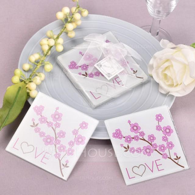 wedding photo - BeterWedding cherry blossom coaster