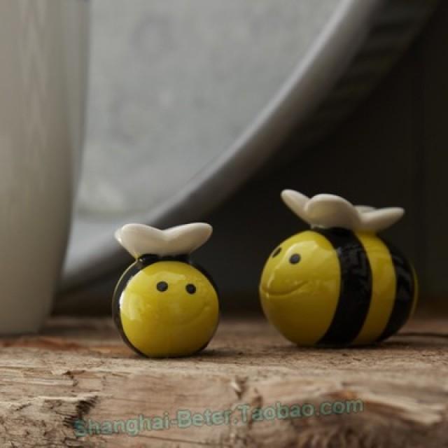 wedding photo - Beter Gifts®結婚回禮婚禮小物DIY母子小蜜蜂調味罐寶寶畢業生日派小禮物TC019