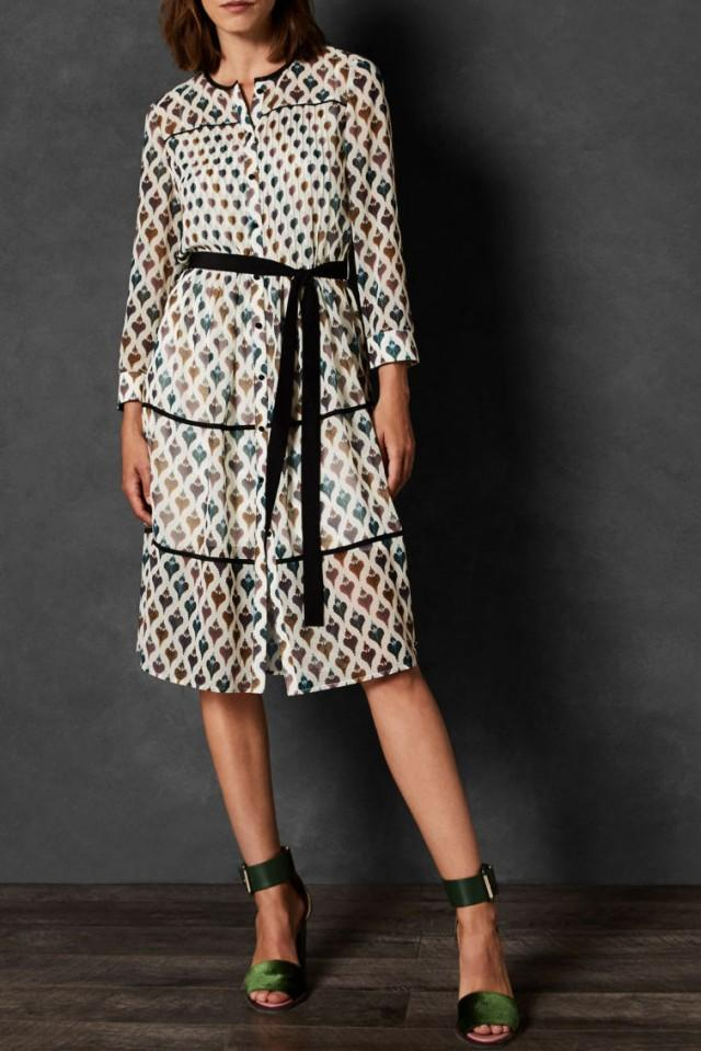 wedding photo - Ted Baker Ria Heart Print Shirt Dress