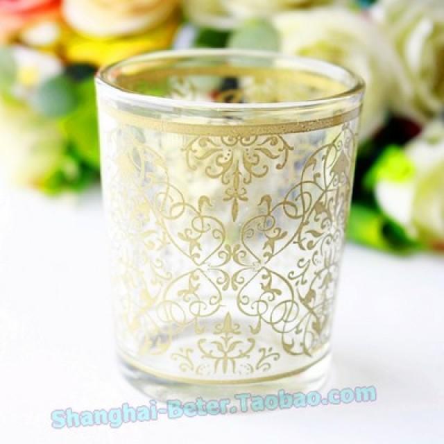 wedding photo - BeterWedding酒吧純洋酒一口杯圓形玻璃金酒杯星空白洋酒杯子彈杯烈酒杯LZ045