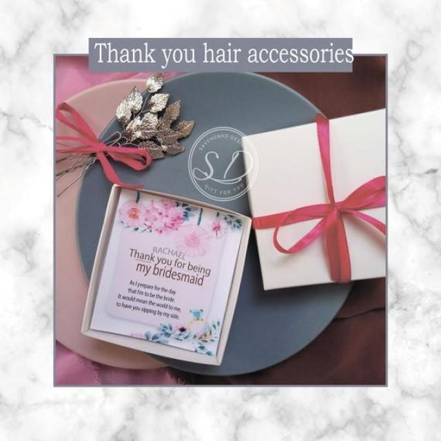 wedding photo - Bridesmaid thank you hair accessories Weddings Prom, Bridesmaids Thank You Bobby Pin Gift Set of three hair pins Thank You Gifts Hair Styles