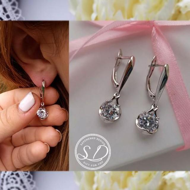 wedding photo - Silver Knot Earrings Stud Earrings Personalized Boxed Will you be my bridesmaid proposal earring Gift Maid Of Honour Bridesmaid Jewelry Box