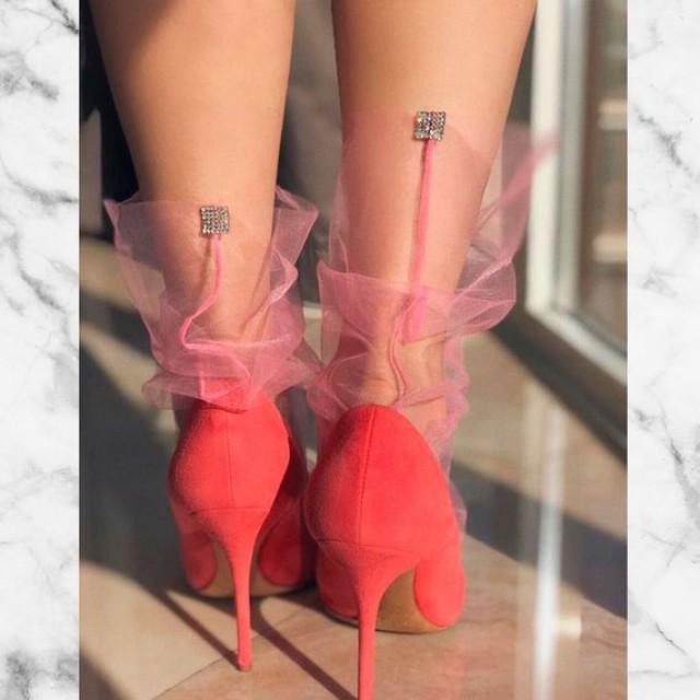 wedding photo - Pink Tulle Socks