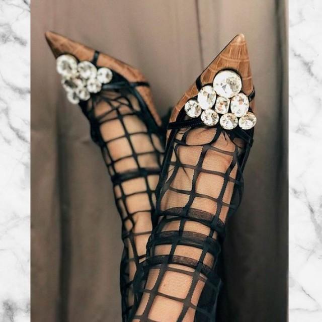 wedding photo - Black Tulle Socks