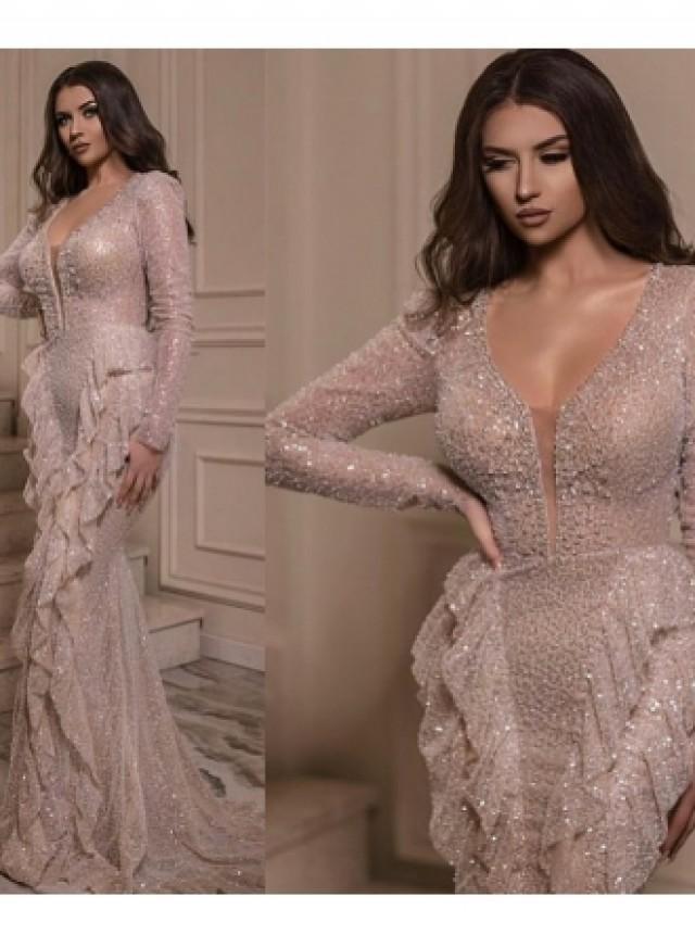 wedding photo - Luxus Abendkleid Mit Ärmel