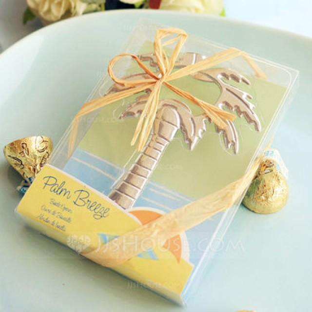 "wedding photo - Beter Gifts®""Palm Breeze"" Chrome Palm Tree Bottle Opener BETER-WJ097"