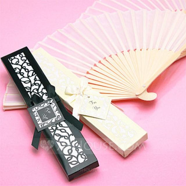 wedding photo - Beter Gifts®Vintage Style/Elegant Vintage Style Bamboo Hand fan With Ribbons