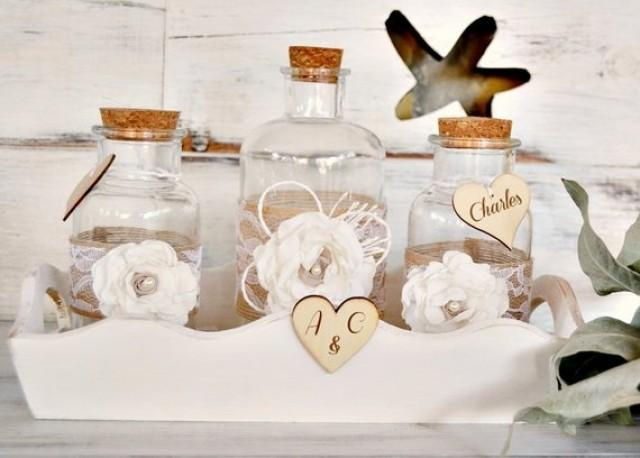 wedding photo - Wedding Sand Ceremony Set, Unity Jars Ceremony Sand, Set Rustic Mason Jars, Personalised Unity Sand Jars, Rustic Wedding Gift, Bridal gift.
