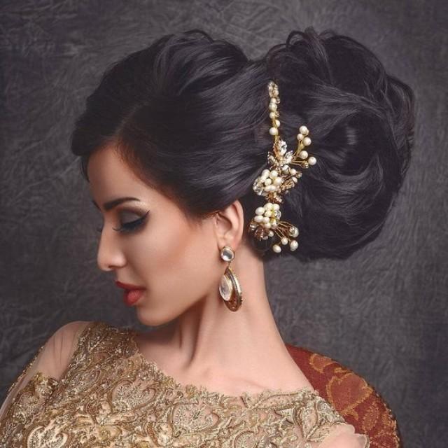 wedding photo - Leaf Headband tiara with maple leaves