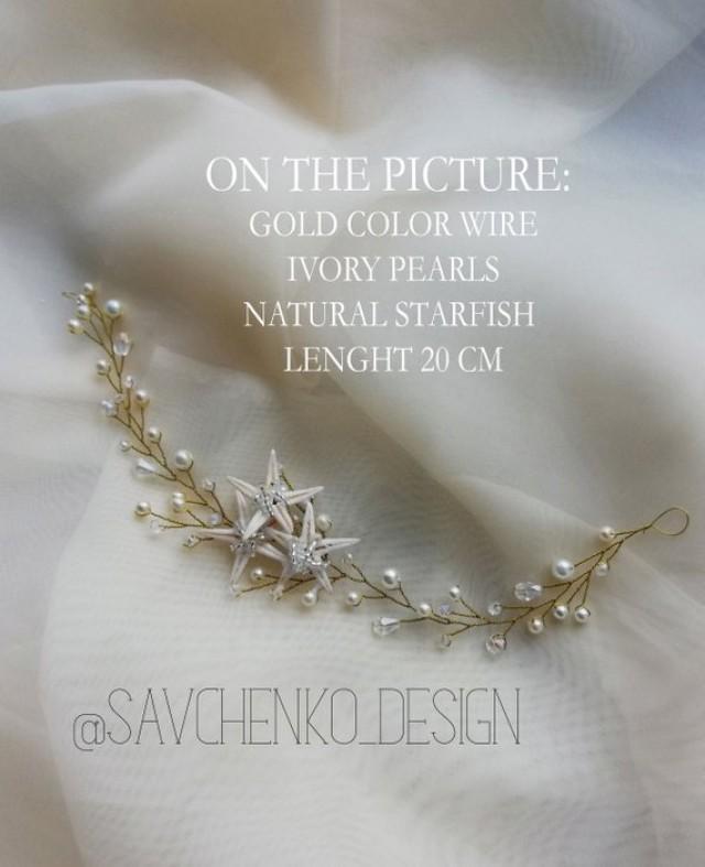 wedding photo - Beach wedding Starfish headpiece