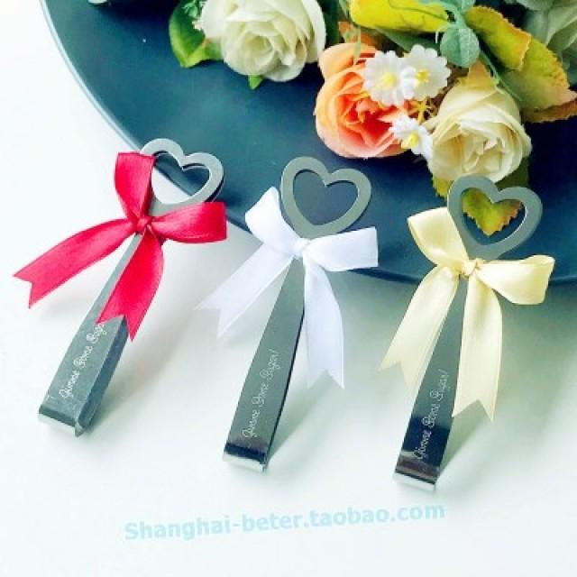 wedding photo - Heart Sugar Tongs DIY Learning Party Gift Ice Tweezer WJ064