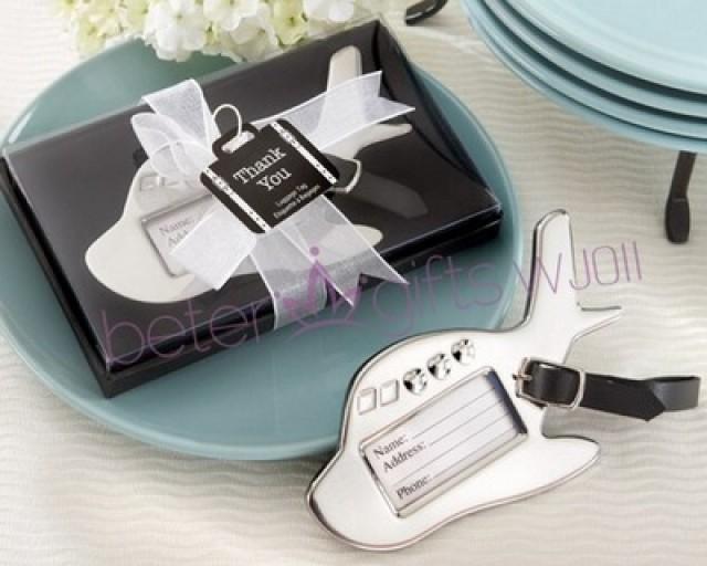 wedding photo - BeterWedding合金飛機行李牌空軍紀念品航空夢拉杆箱吊牌身份牌伴手禮WJ011/A