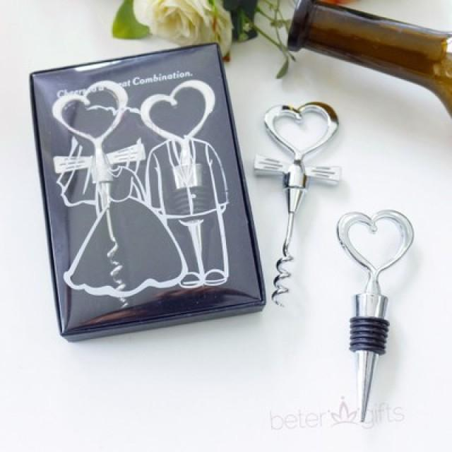 wedding photo - BeterWedding Bottle Opener Stopper Wine Set Summer Wedding Favors BETER-WJ004  http://Shanghai-Beter.Taobao.com