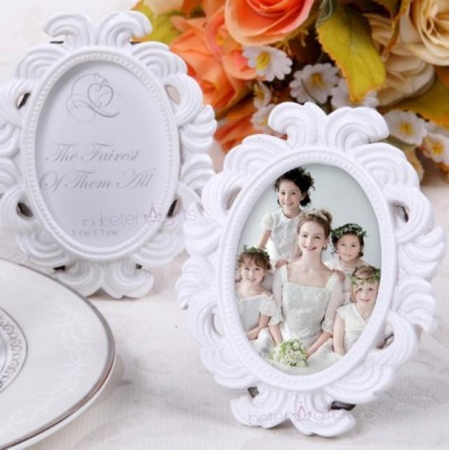 wedding photo - BeterWedding白色小相框創意春季席位卡晚宴轟趴婚禮擺件高端餐盤的佈置BETER-SZ043