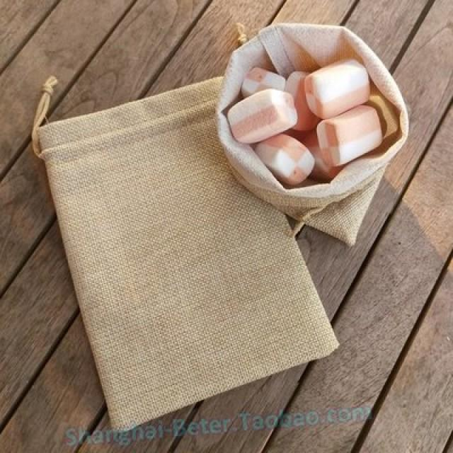 wedding photo - Jute Candy Bag Burlap Favor DIY Packaging Materials BETER-TH043