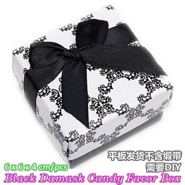 wedding photo - Beter Gifts®Wedding Bomboniere Damask Cany Favor Box mini Giftbox TH000