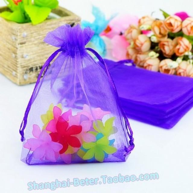wedding photo - Beter Gifts® Sheer Organza Favor Bags Spring Wedding TH033