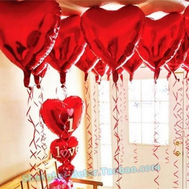 wedding photo - BeterWedding Balloons Heart Wedding Decorations Bomboniere BETER-HH136