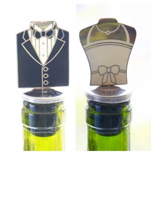 wedding photo - BeterWedding Groom and Bride Bottle Stopper Party Decoration