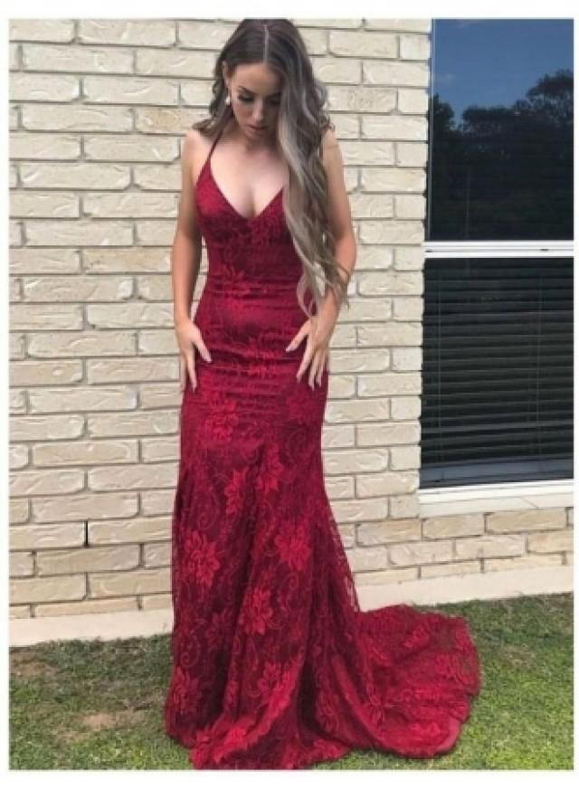wedding photo - Fashion Abendkleid Lang Rot