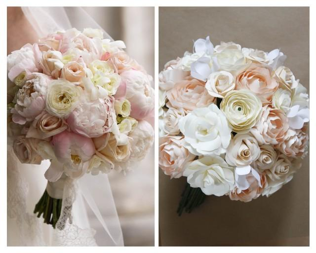 """Replica Paper Bouquet - Match a Bouquet in paper. Paper Anniversary Gift! Click """"Ask a Question"""" & SUBMIT PHOTO BEFORE Purchase to confirm!"""