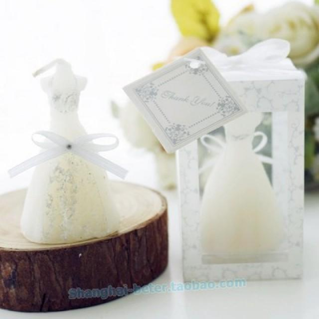 wedding photo - 上海倍乐礼品 Bridal Dress Candles Wedding Décoration keepsakes LZ003   http://Shanghai-beter.taobao.com