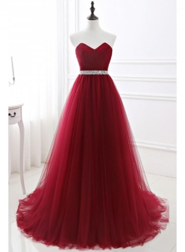 wedding photo - Günstige Abendkleider Lang Weinrot Abiballkleider Online Kaufen Modellnummer: CPS551