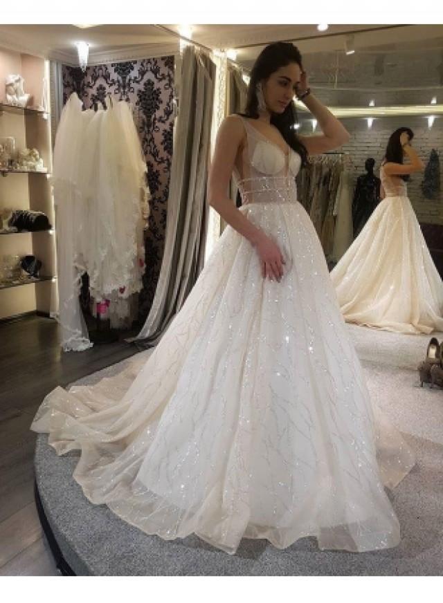 wedding photo - Modern Hochzeitskleider Mit Glitzer