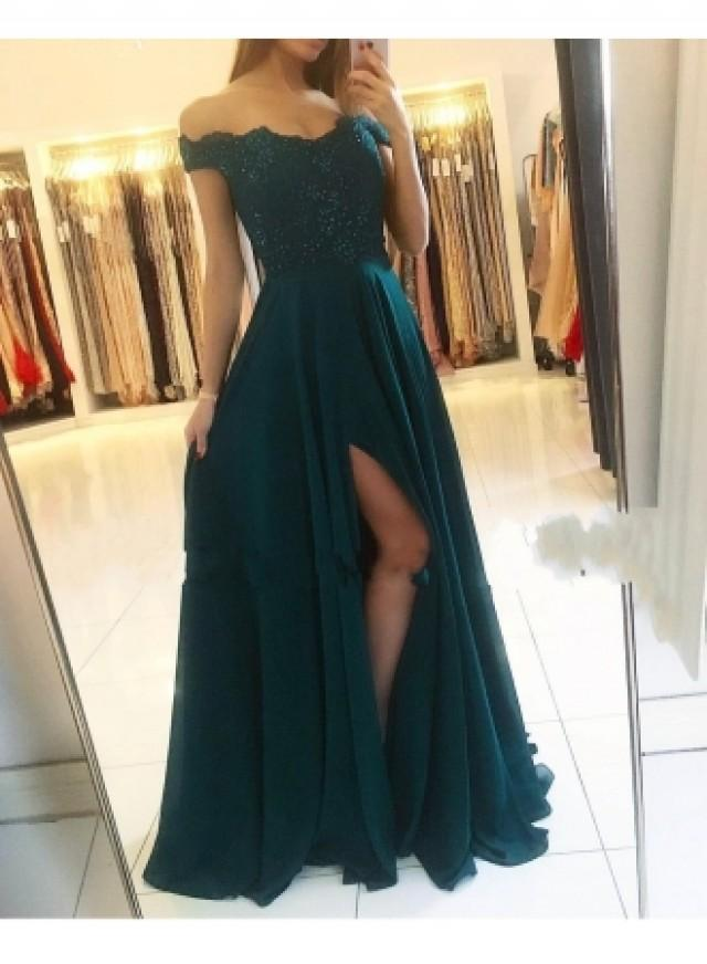 wedding photo - Fashion Grüne Abendkleider Lang Günstig