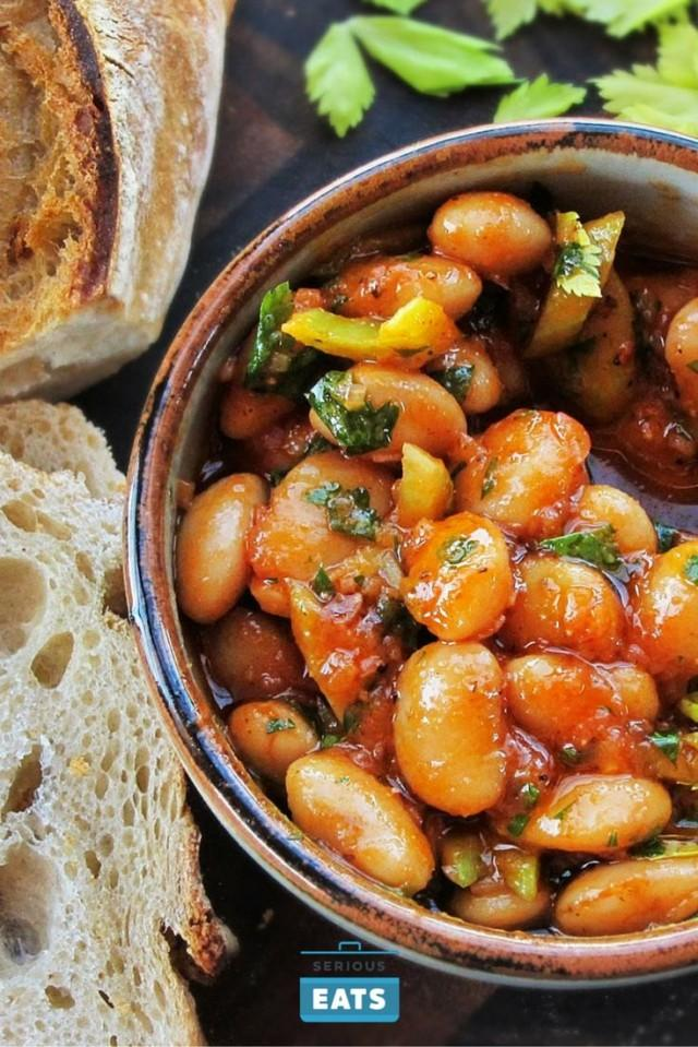 Warm Spanish-Style Giant-Bean Salad With Smoked Paprika And Celery
