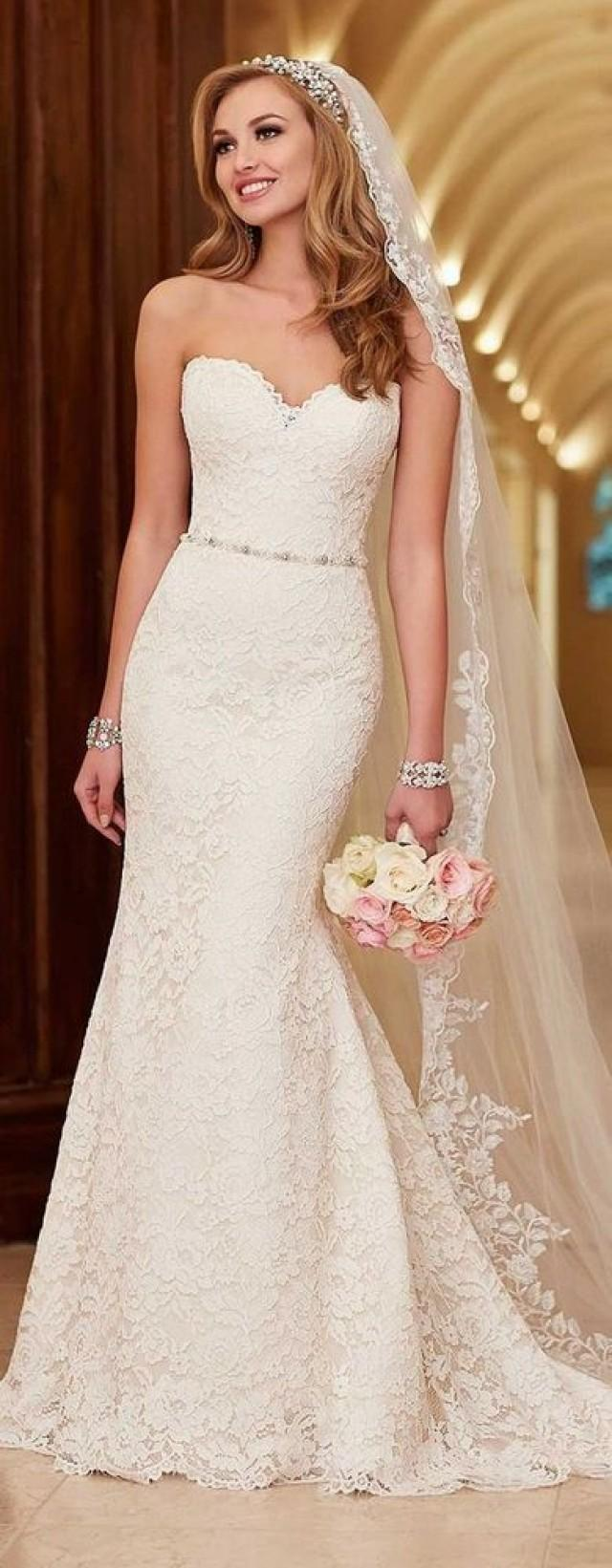 White Newest Wedding Dress,lace Bridal Dress, Strapless Weeding Dress Mermaid Wedding Dress