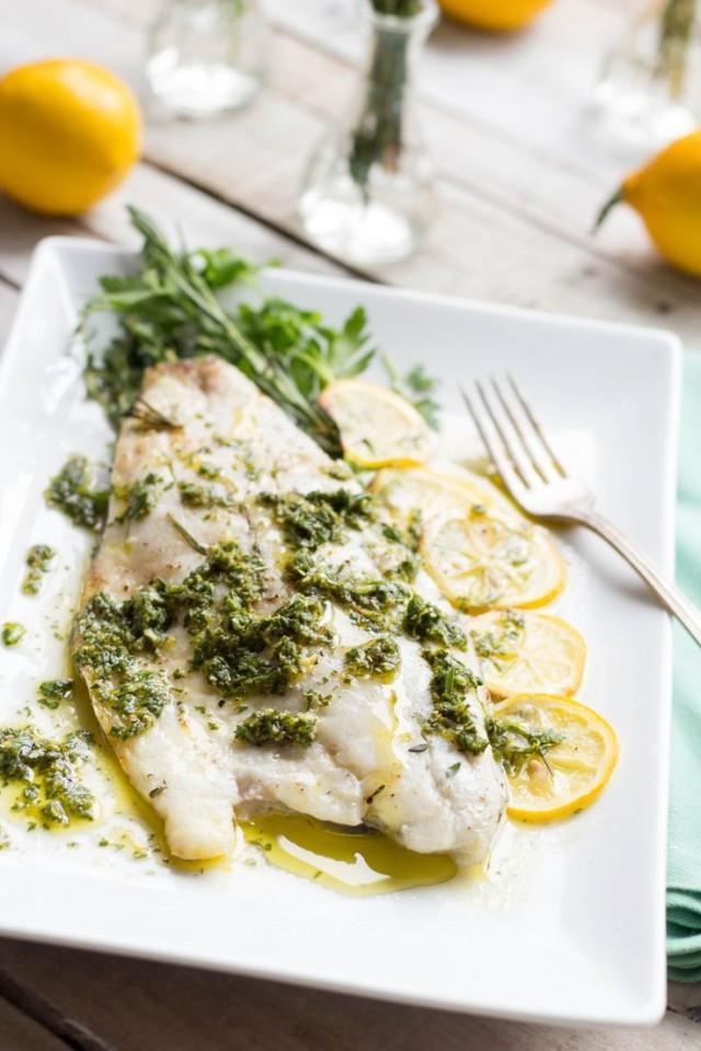 Herb Roasted Fish With Meyer Lemon Vinaigrette