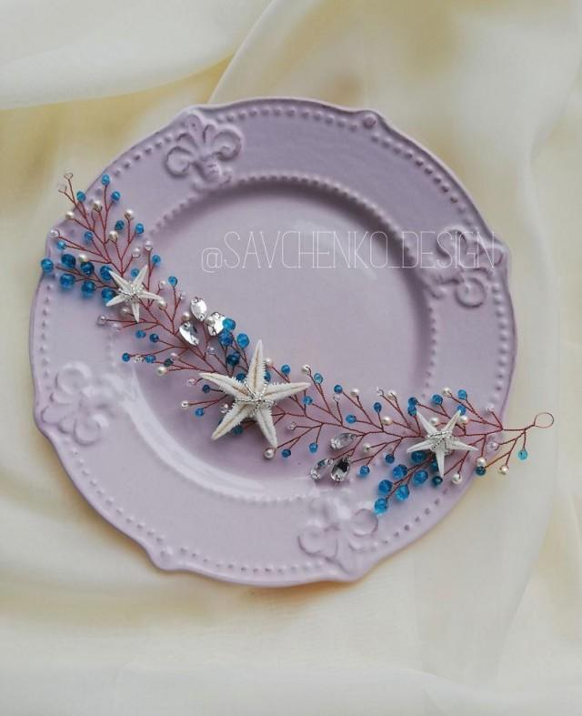 wedding photo - Blue Starfish crown