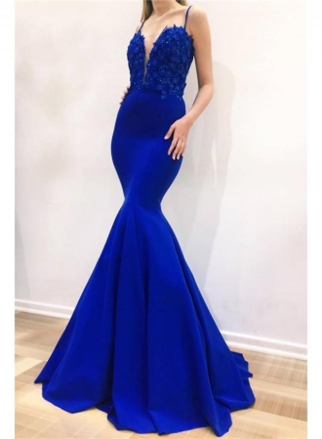 wedding photo - Modern Abendkleid Blau
