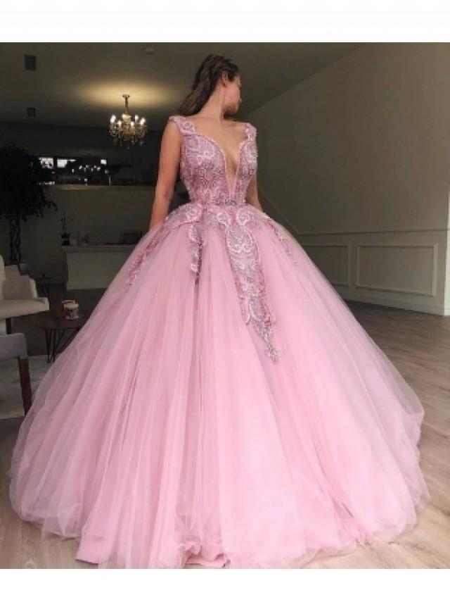 wedding photo - Elegante Abendkleider Lang Rosa