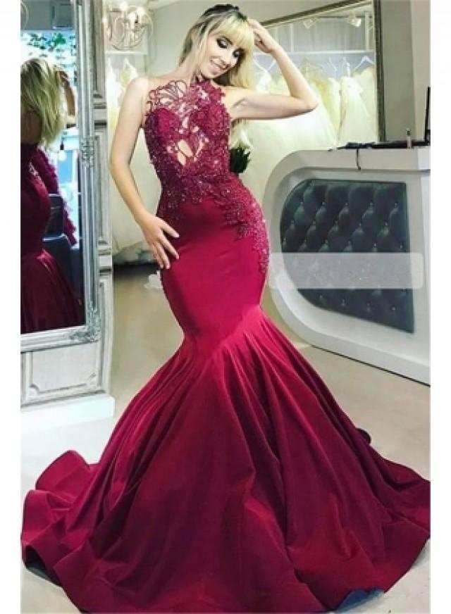 wedding photo - Elegante Abendkleider Lang Rot