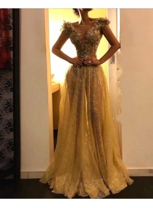 wedding photo - Abendkleid Gold