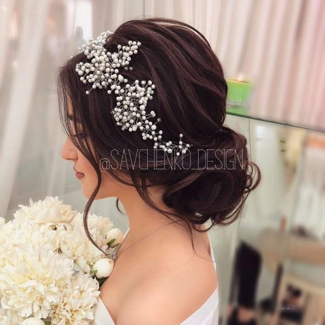 wedding photo - Bridal hair vine, Clear tiara, Wedding hair accessories, haarschmuck braut, Wedding hair piece, Tocado novia, Bridal hair accessories, Tiara