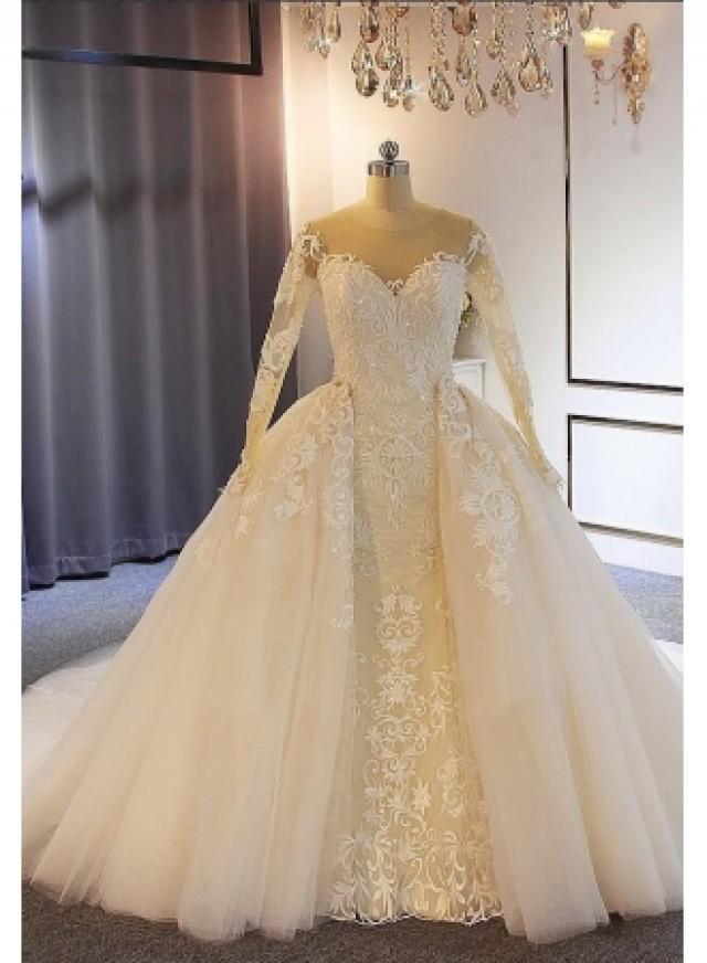 wedding photo - Elegante Brautkleider mit Ärmel