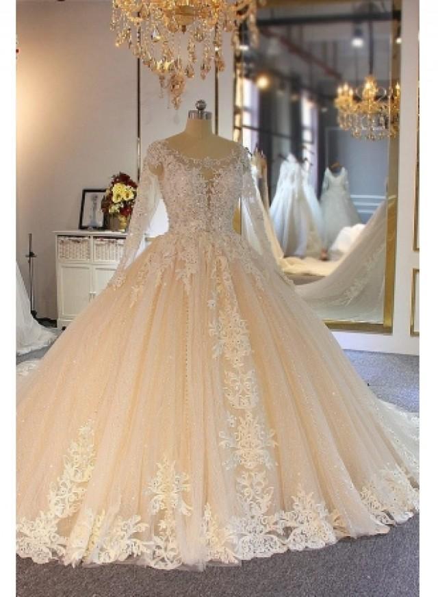 wedding photo - Luxus Brautkleider Spitze Ärmel