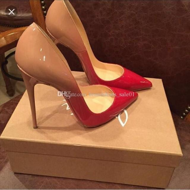 wedding photo - Stiletto Heel Brand Red Bottom Sexy Woman Dress Shoes Sandals High Heeled Wedding Shoes Pointed Toe Fashion Single High Heel 12cm 10cm 8cm Green Shoes Wedding Italian Shoes Online From Brandshoes_sale01, $35.14