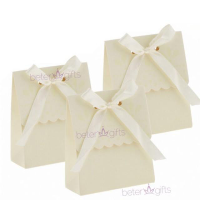 wedding photo - BeterWedding DIY Ivory Bridal shower favor wedding Candy Box TH003