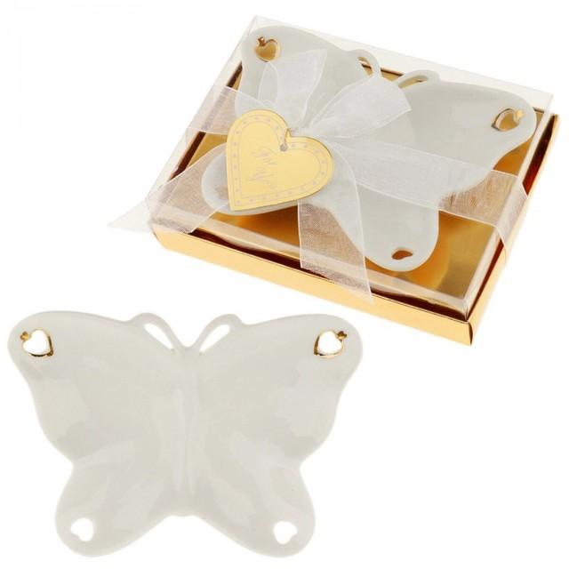 wedding photo - #beterwedding Creative Butterfly Shape Ceramic Candy Dish Wedding Party Favors
